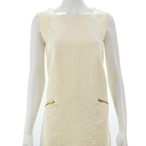 J.CREW BEIGE COTTON BLEND SLEEVELESS DRESS SIZE S